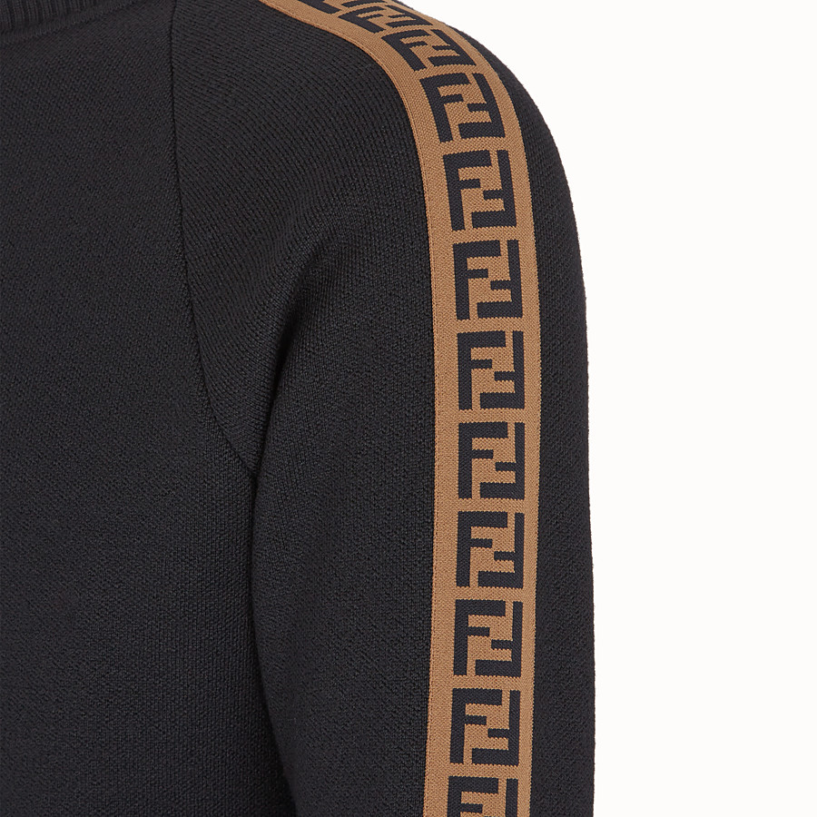 FENDI PULLOVER - Black wool jumper - view 3 detail