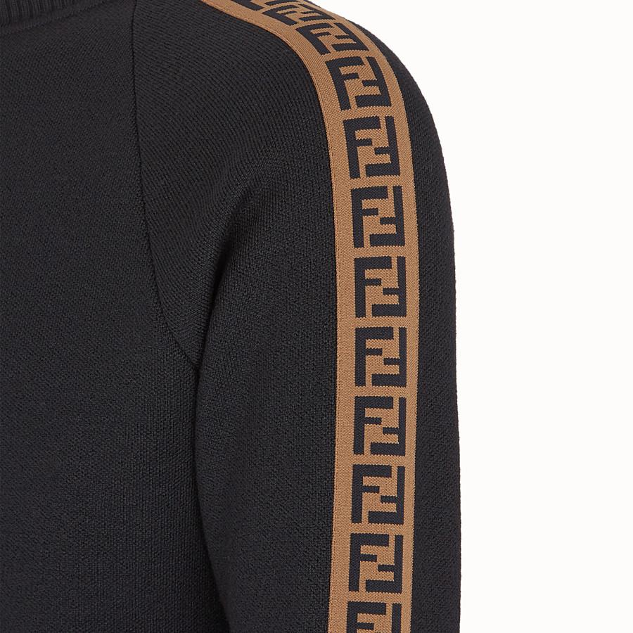 FENDI PULL - Pull en laine noire - view 3 detail