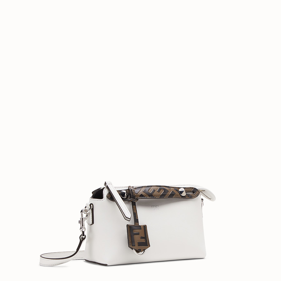FENDI BY THE WAY MINI - Small white leather Boston bag - view 2 detail