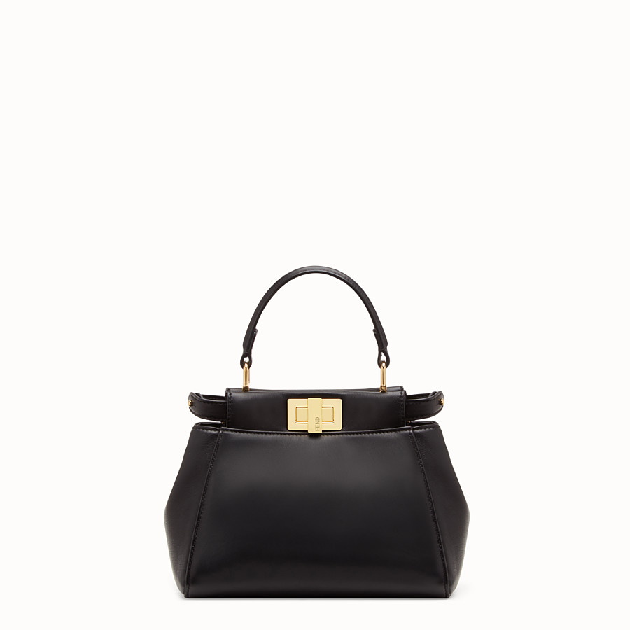 FENDI PEEKABOO XS - Black nappa leather minibag - view 1 detail