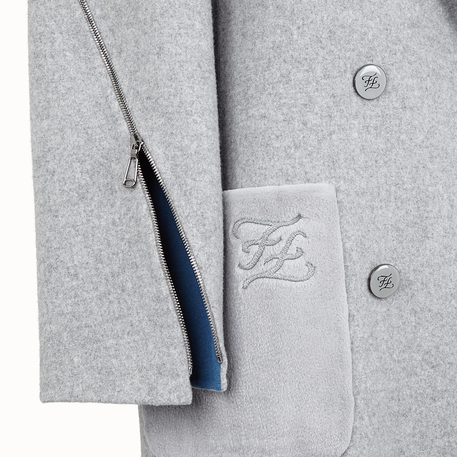 FENDI OVERCOAT - Wool coat - view 3 detail