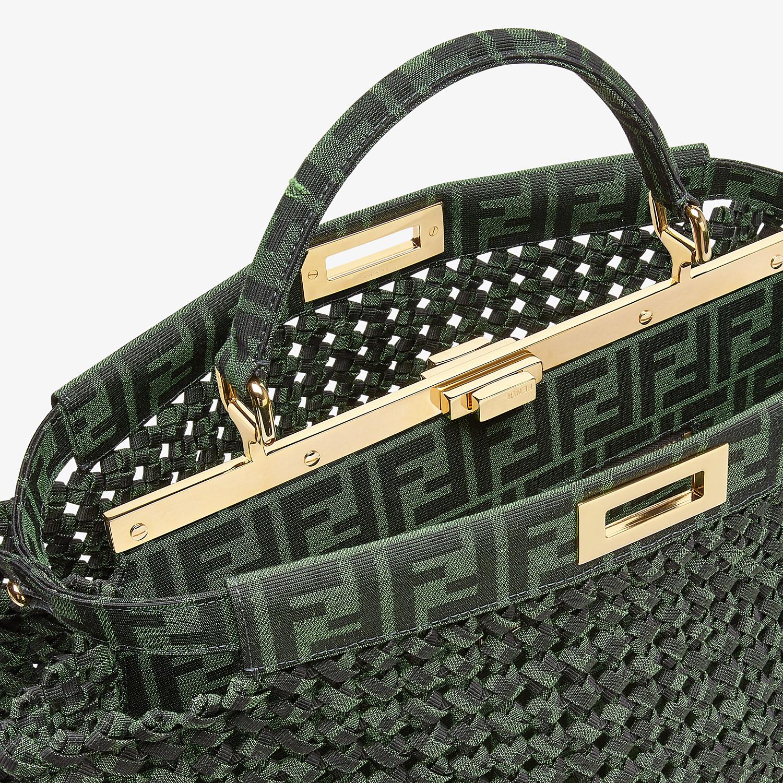 FENDI PEEKABOO ICONIC LARGE - Jacquard fabric interlace bag - view 6 detail