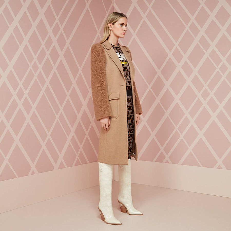 FENDI OVERCOAT - Brown camel coat - view 4 detail