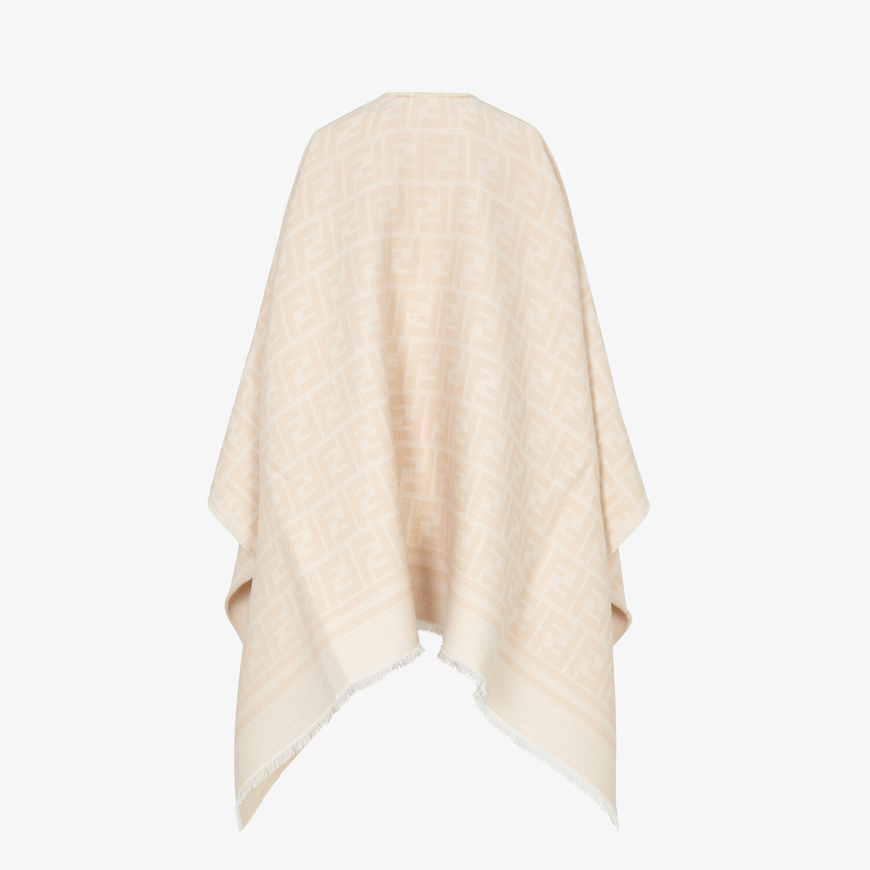 FENDI PONCHO - Poncho in beige wool and silk - view 2 detail