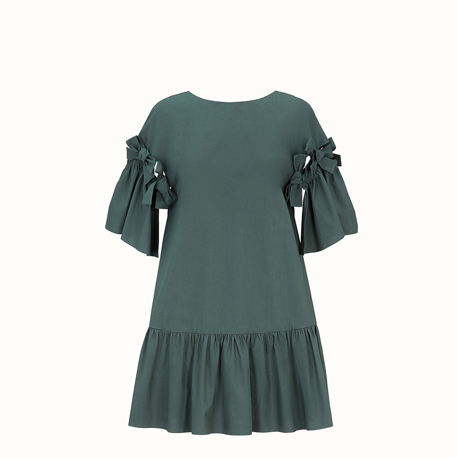 FENDI DRESS - Green cotton dress - view 1 detail