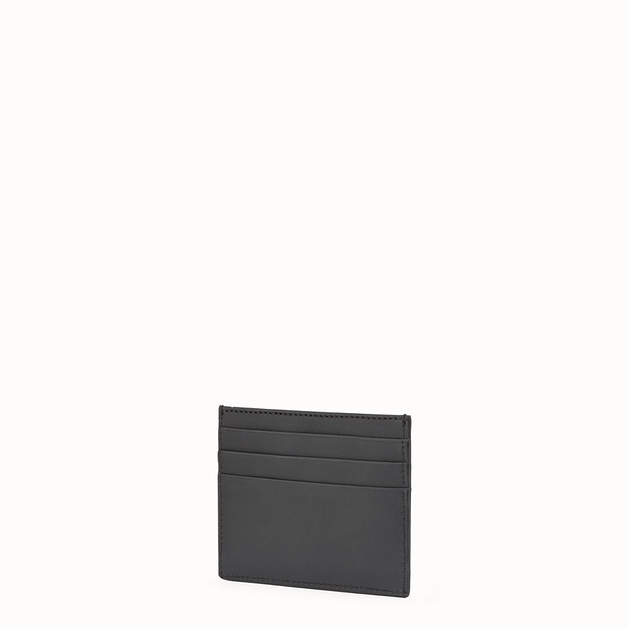 FENDI CARD HOLDER - Black leather 6-slot card holder - view 2 detail