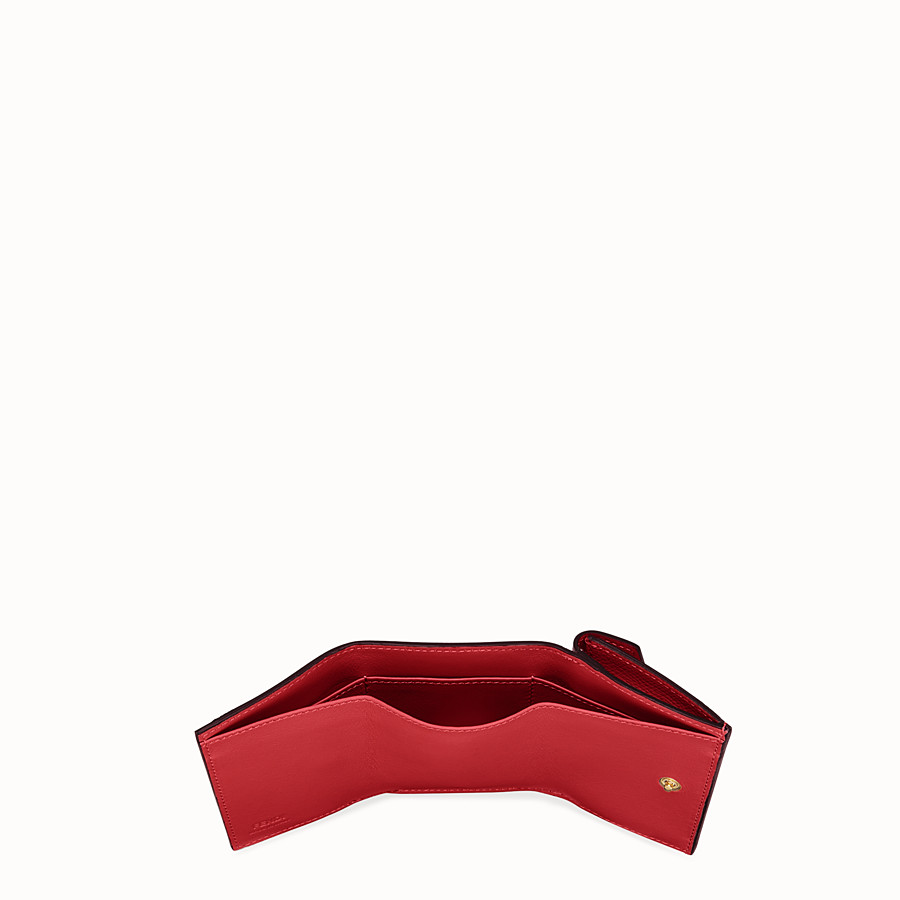 FENDI MICRO TRIFOLD - Red leather wallet - view 5 detail