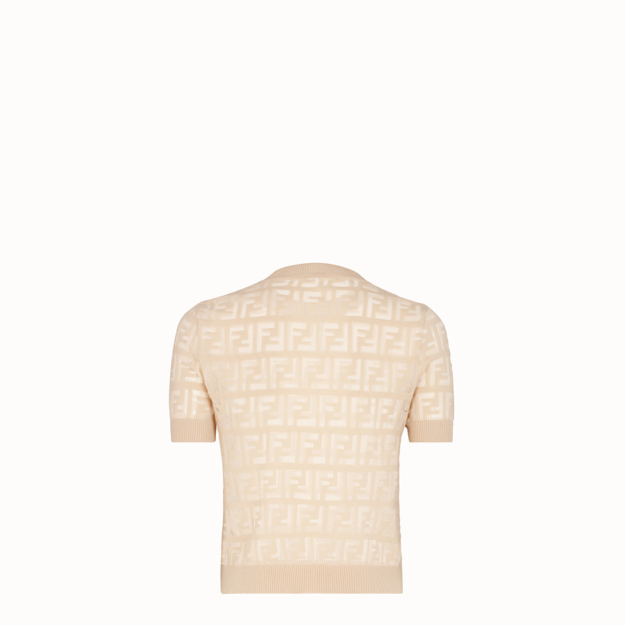 FENDI PULLOVER - Beige cotton jumper - view 2 detail