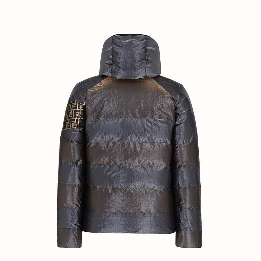 FENDI DOWN JACKET - Metallic tech fabric padded jacket - view 2 detail