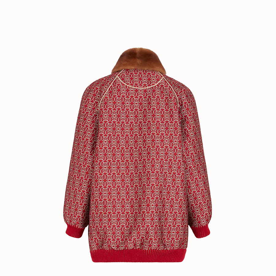 FENDI BOMBER - Red jacquard bomber jacket - view 2 detail