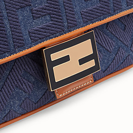 FENDI BAGUETTE - Blue denim bag - view 6 thumbnail