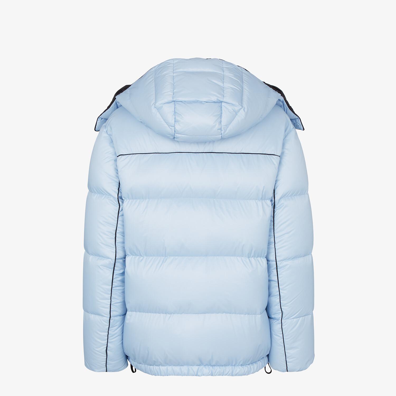 FENDI DOWN JACKET - Light blue nylon down jacket - view 2 detail