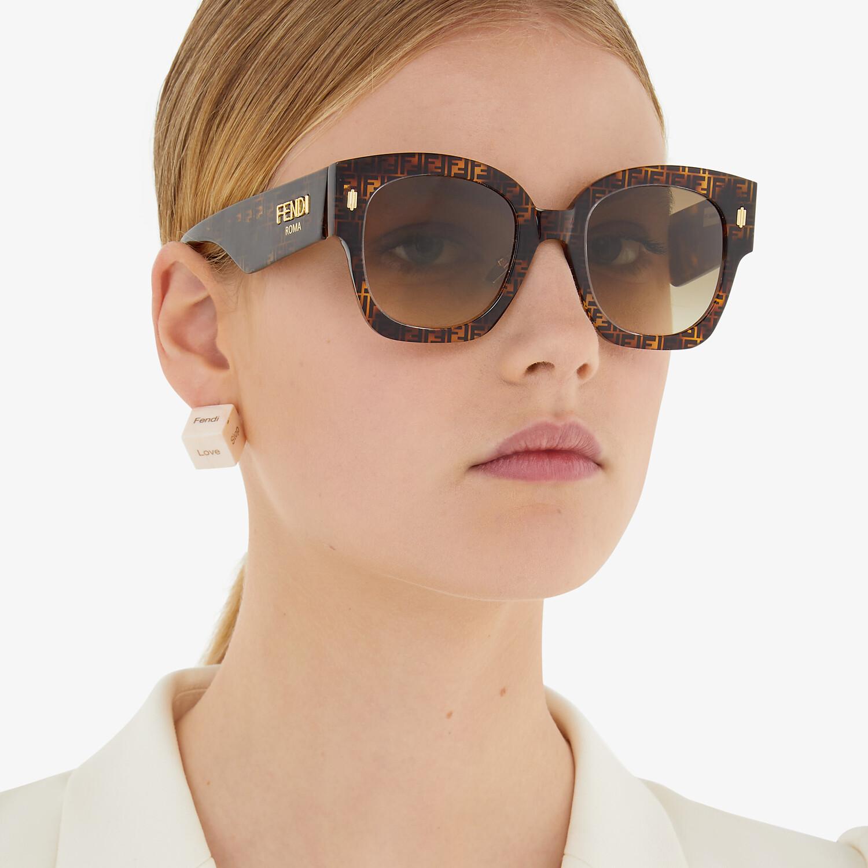 FENDI FENDI ROMA - FF Havana acetate sunglasses - view 4 detail