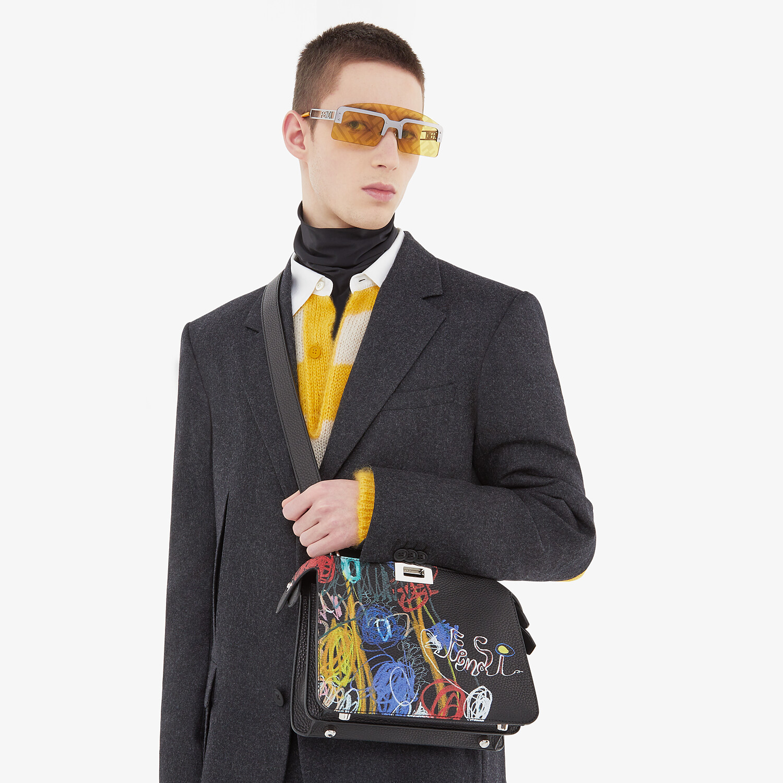FENDI PEEKABOO ISEEU MINI - Leather bag with multicolor print - view 7 detail
