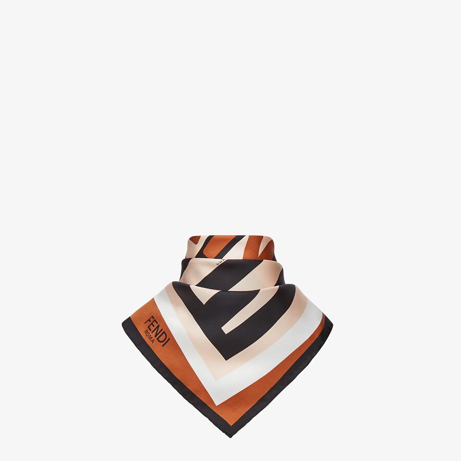 FENDI PEQUIN FOULARD - Multicolor silk foulard - view 2 detail