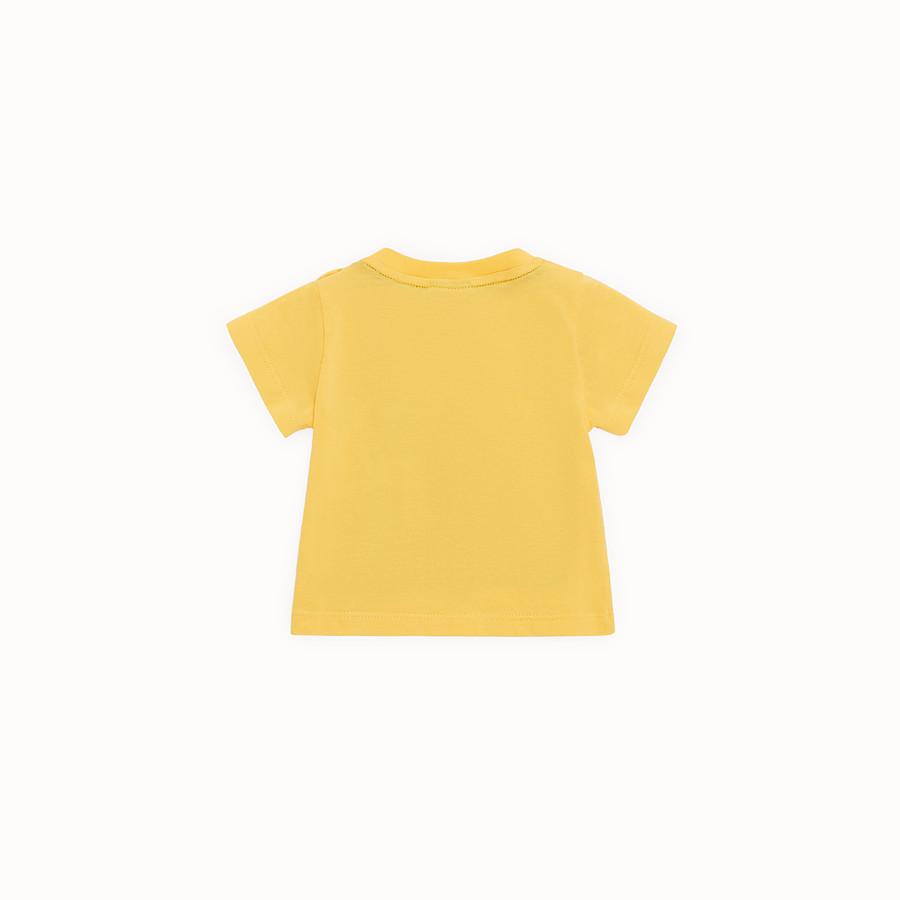 FENDI T-SHIRT - T-shirt in jersey giallo - vista 2 dettaglio