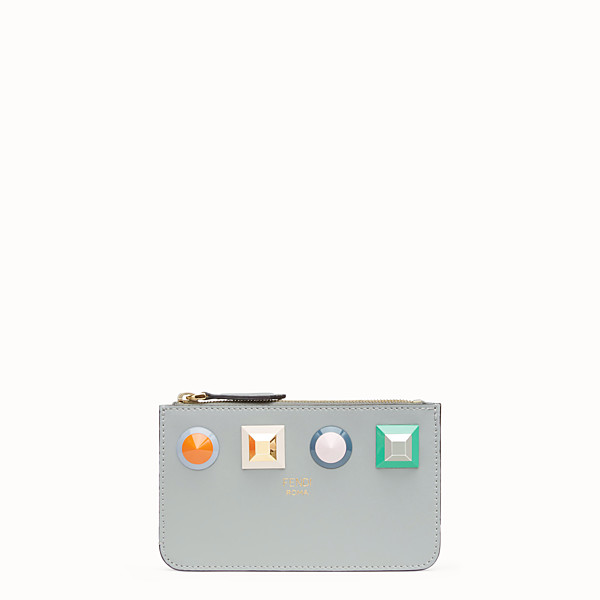FENDI KEY RING POUCH - Grey leather keyring - view 1 small thumbnail