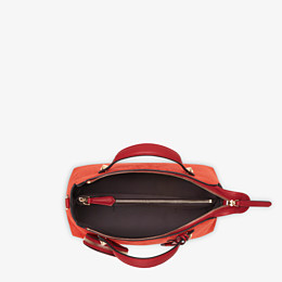 FENDI BY THE WAY MEDIUM - Red suede Boston bag - view 4 thumbnail