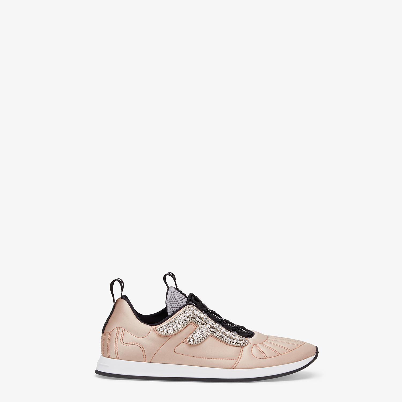 FENDI SNEAKERS - Pink satin sneakers - view 1 detail