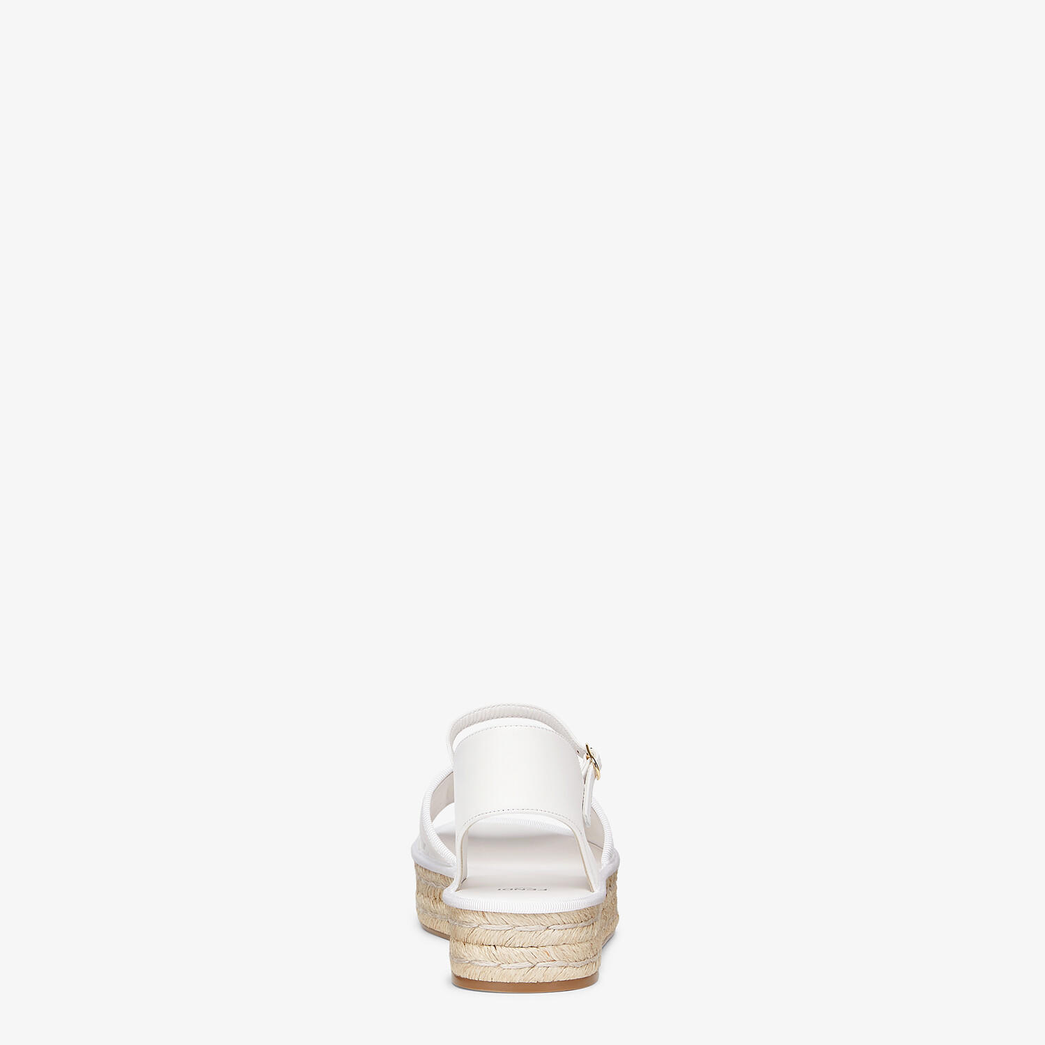 FENDI ESPADRILLES - White leather flatform espadrilles - view 3 detail