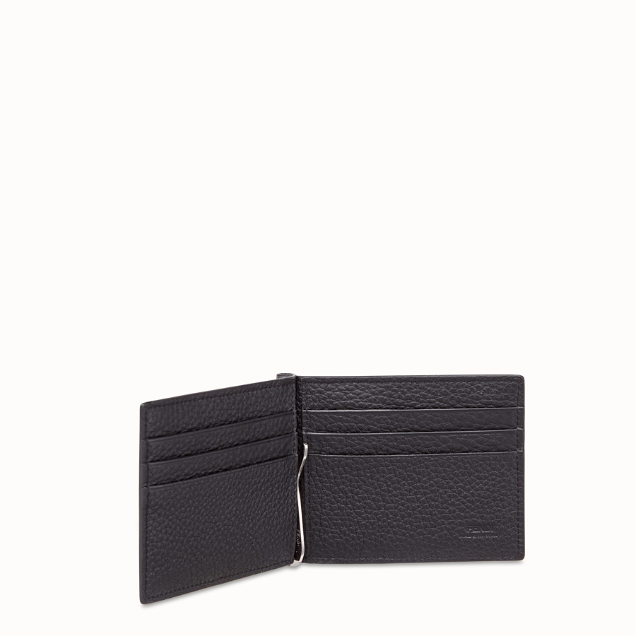 FENDI CARD HOLDER - Grey, calf leather money clip - view 3 detail