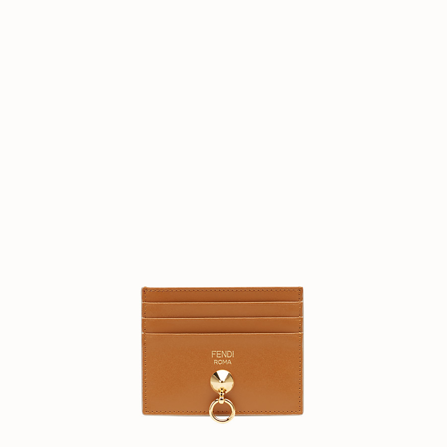 FENDI CARD HOLDER - Flat multicolour leather card holder - view 1 detail