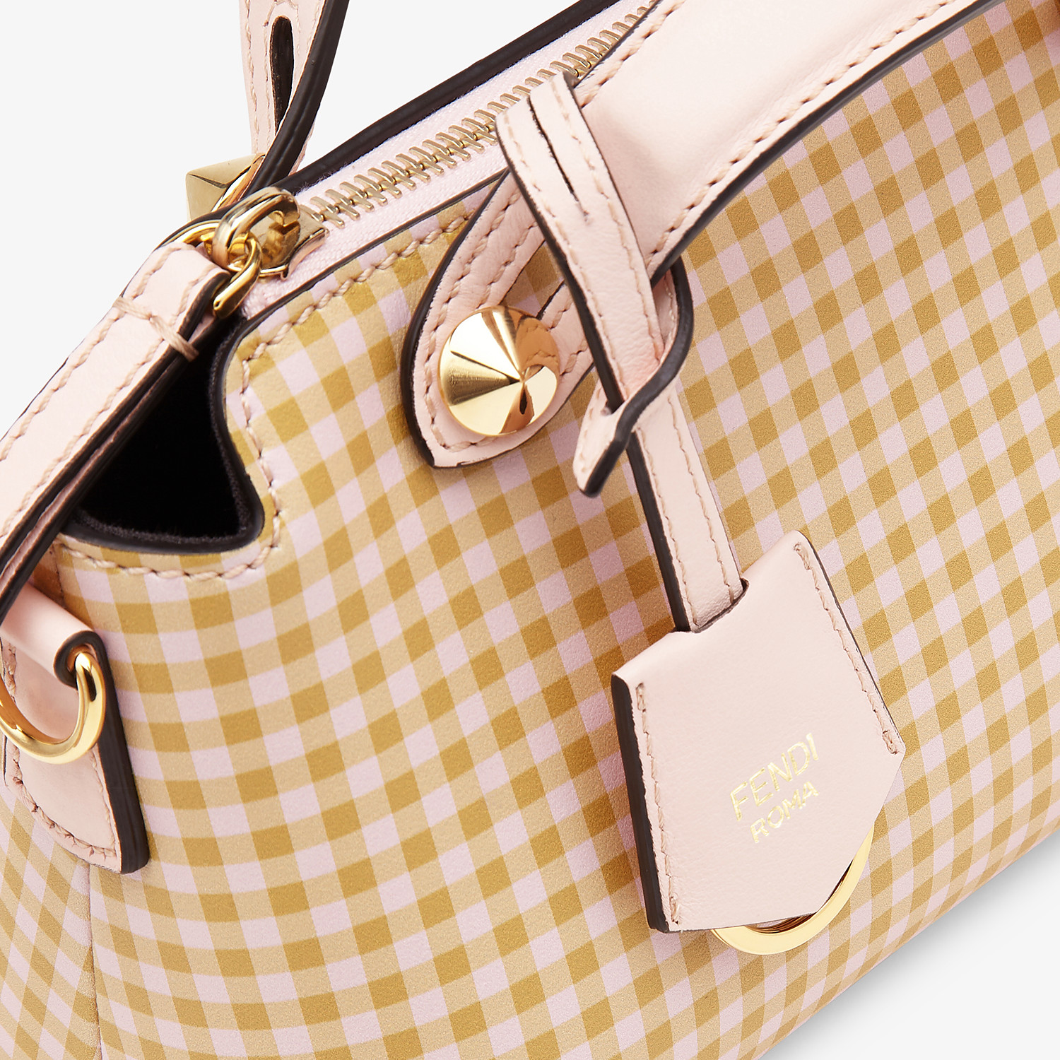 FENDI BY THE WAY MINI - Pink leather small Boston bag - view 5 detail