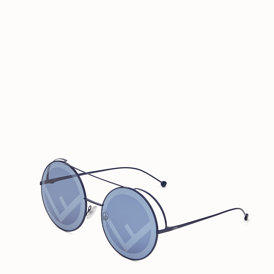FENDI RUN AWAY - Lunettes de soleil Runway bleues. - view 2 detail