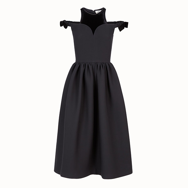 FENDI DRESS - Black silk and wool dress - view 1 small thumbnail