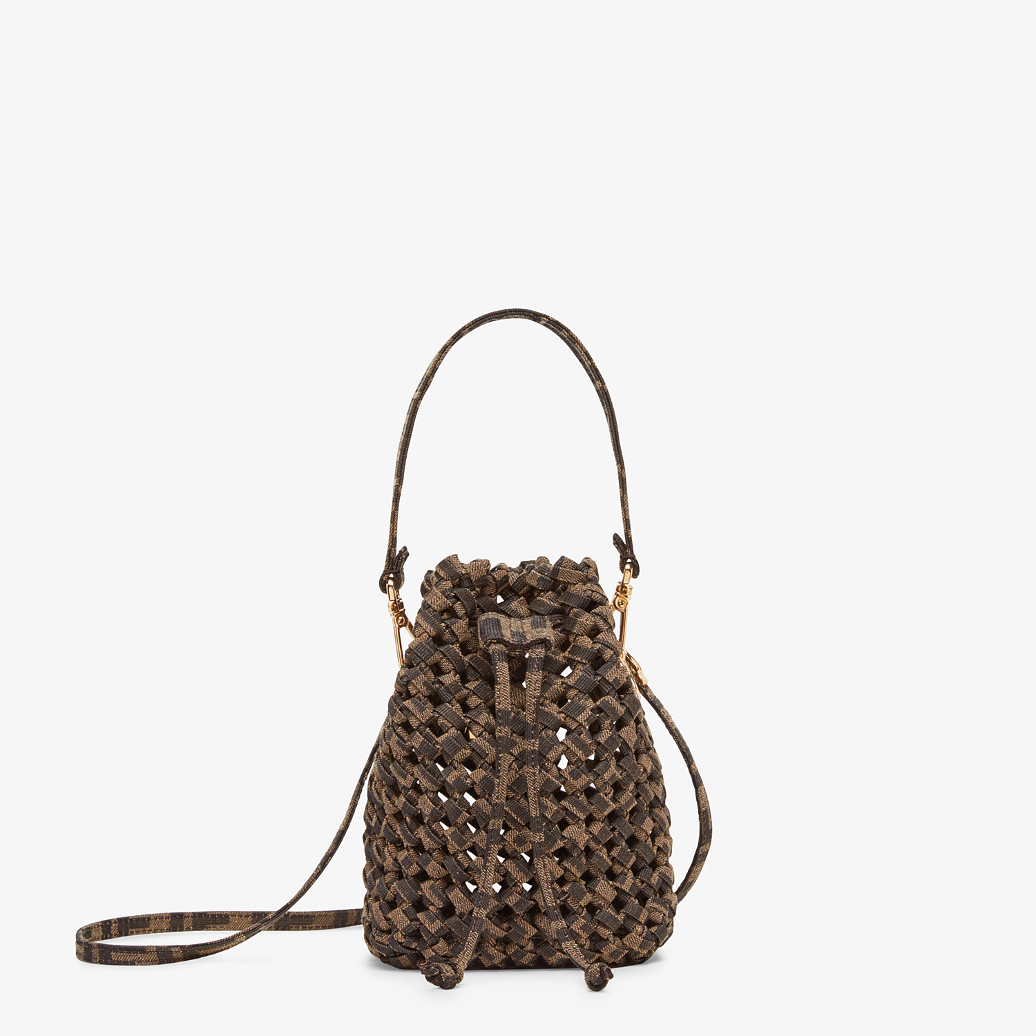 FENDI MON TRESOR - Jacquard fabric interlace mini-bag - view 1 detail