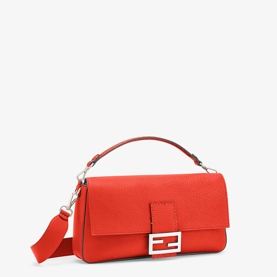 FENDI BAGUETTE LARGE - Fendi Roma Amor leather bag - view 3 detail