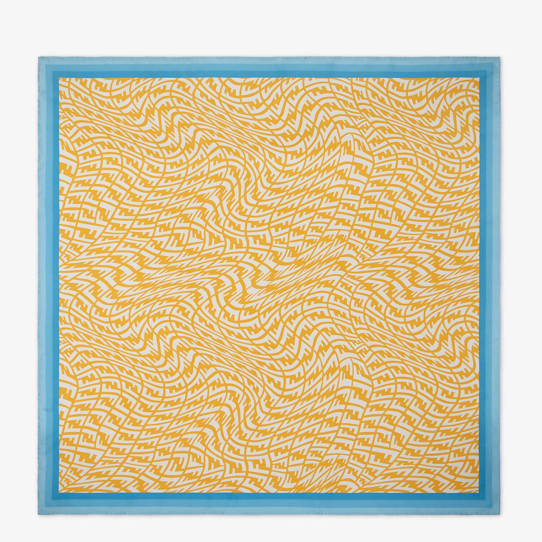 FENDI FOULARD FF VERTIGO - Foulard in twill giallo - vista 1 dettaglio