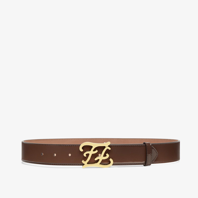 FENDI CINTURA KARLIGRAPHY - Cintura in vernice marrone - vista 1 dettaglio