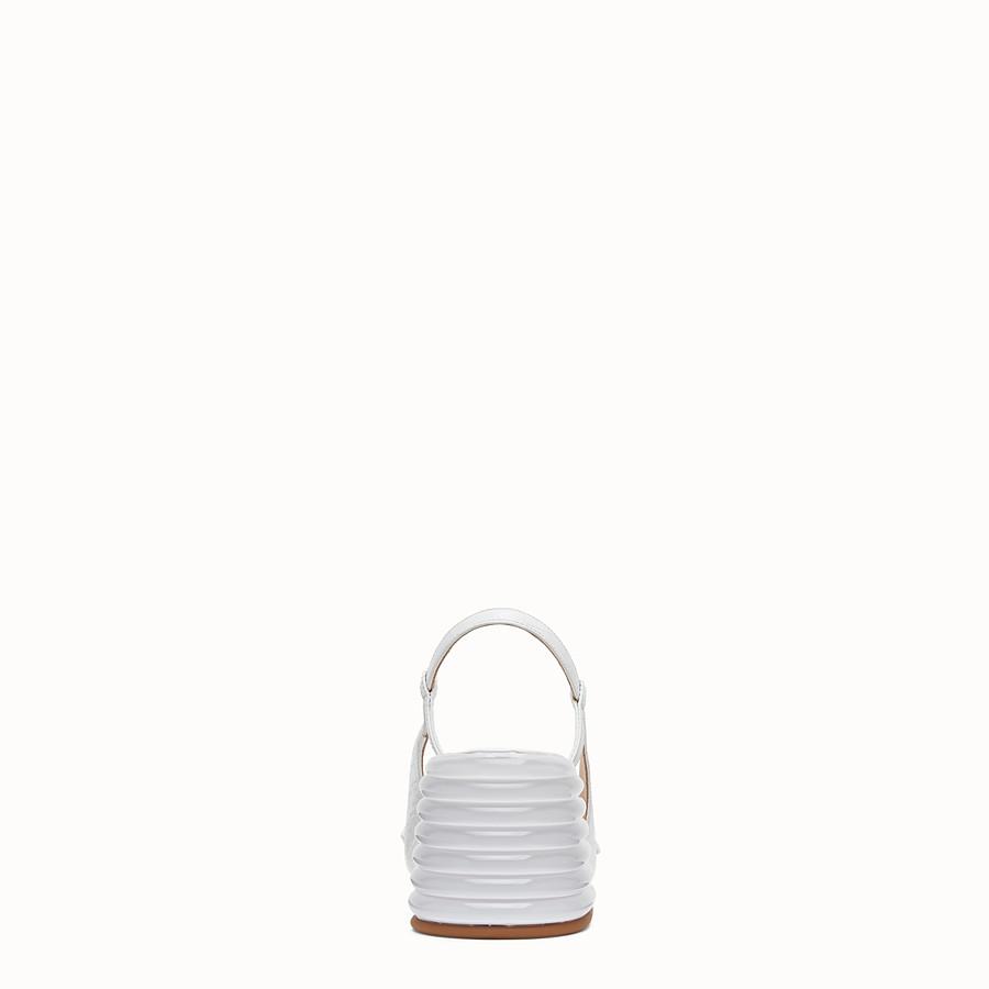 FENDI SLINGBACK - White leather promenade - view 3 detail