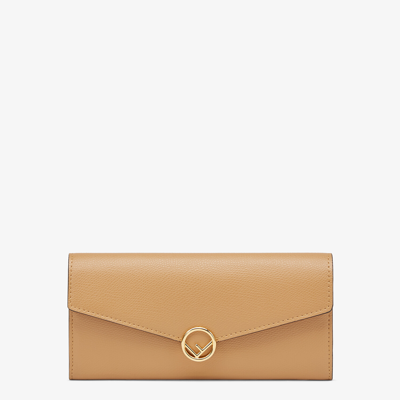 FENDI CONTINENTAL - Beige leather wallet - view 1 detail