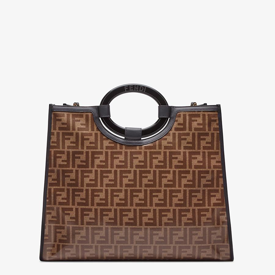 FENDI RUNAWAY SHOPPER - Shopper in brown fabric - view 3 detail