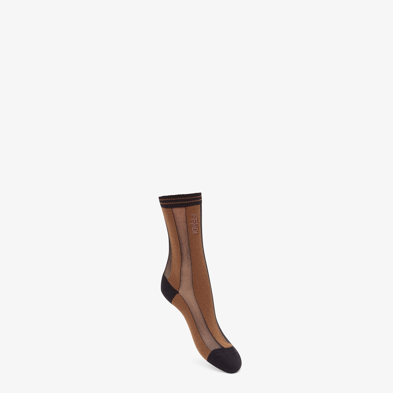 FENDI SOCKS - Black nylon socks - view 1 detail