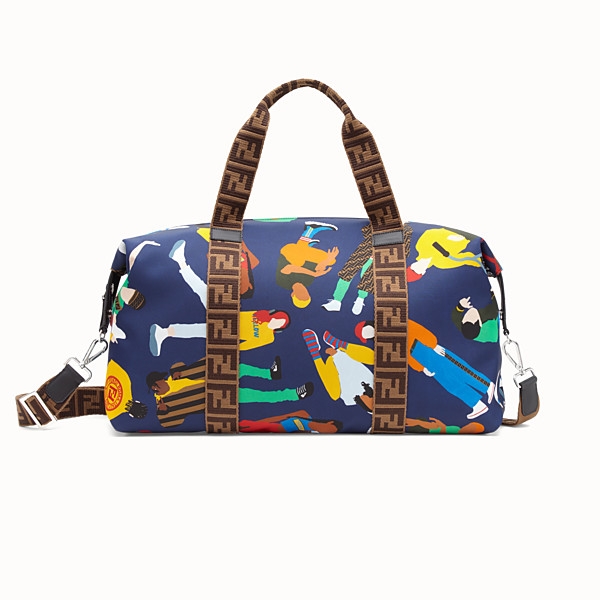 FENDI BABY SHOPPER - Multicolour nylon gym bag - view 1 small thumbnail