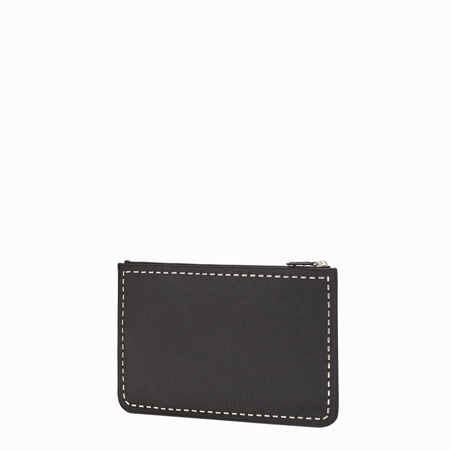 FENDI MOCASSINO - 黑色皮革和金屬 - view 2 detail