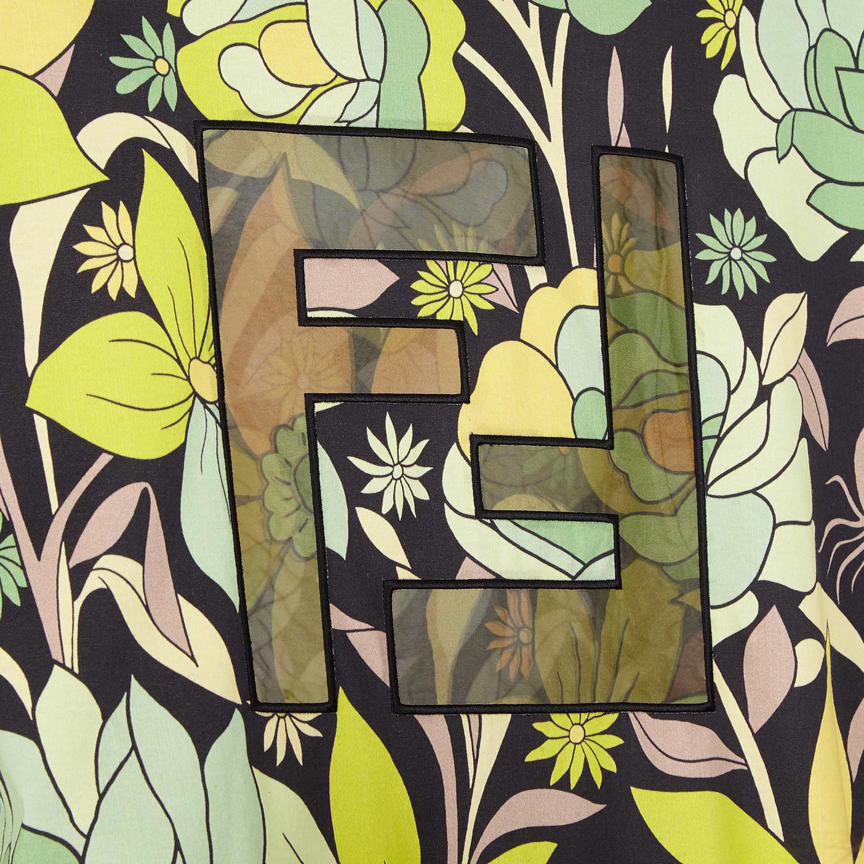 FENDI T-SHIRT - Multicolour cotton T-shirt - view 3 detail