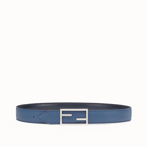 FENDI BELT - Reversible blue and slate-coloured belt - view 1 small thumbnail