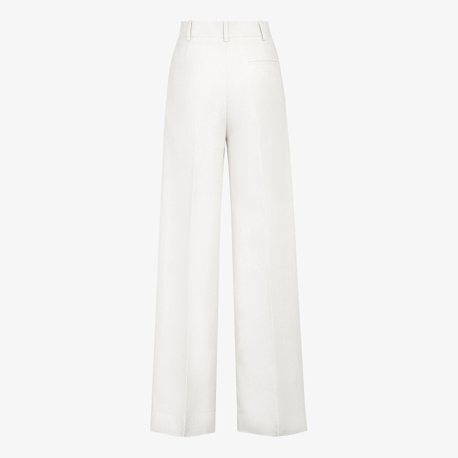 FENDI PANTS - White linen pants - view 2 detail