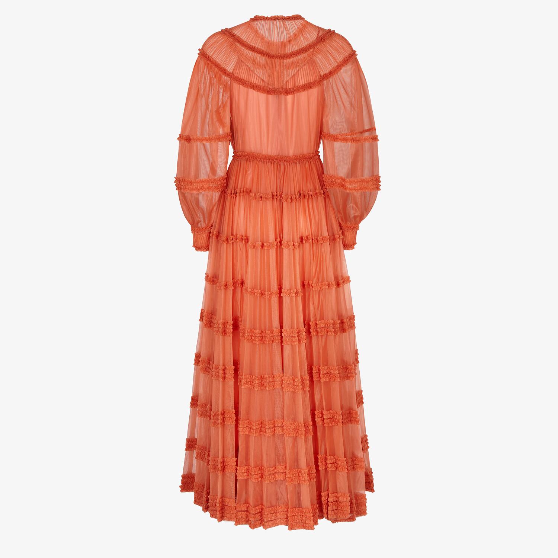 FENDI DRESS - Orange tech jersey dress - view 2 detail