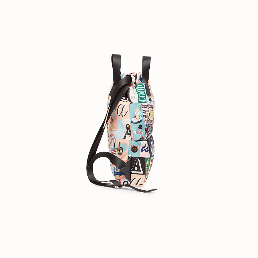 FENDI BABY BACKPACK - Multicolour canvas sack-style backpack - view 2 detail