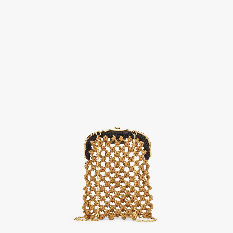 FENDI BAGUETTE PHONE BAG - Beige fabric mini-bag - view 3 detail