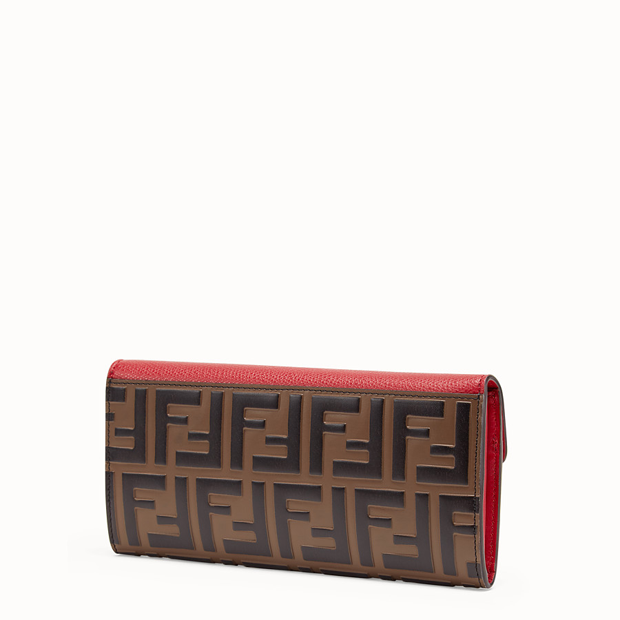 FENDI CONTINENTAL - Red leather wallet - view 2 detail