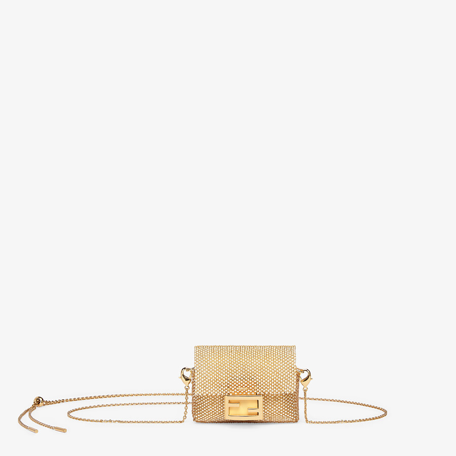 FENDI PICO BAGUETTE CHARM - Charm with champagne-colored beading - view 1 detail