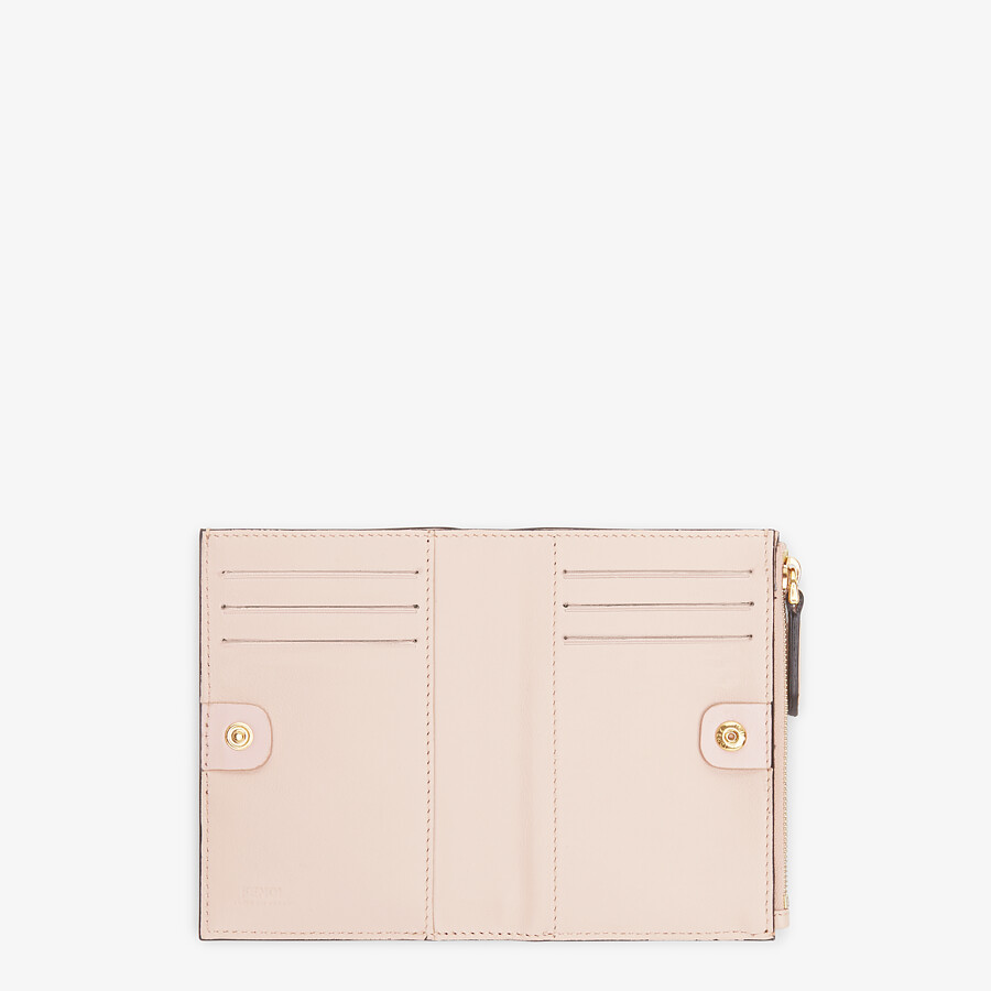 FENDI MEDIUM WALLET - Pink leather wallet - view 4 detail