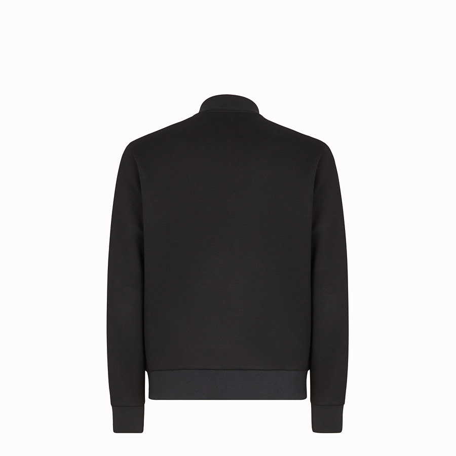 FENDI BLOUSON JACKET - Black scuba jacket - view 2 detail