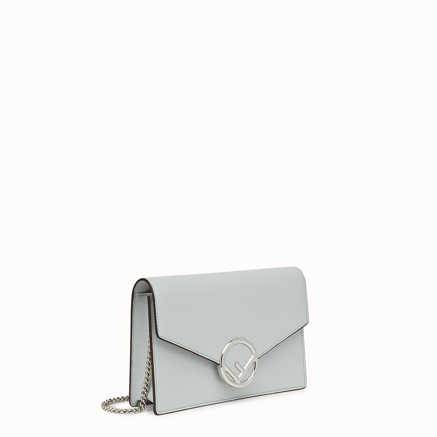 FENDI WALLET ON CHAIN - Gray leather mini-bag - view 2 detail